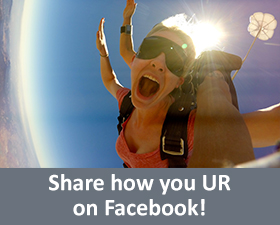 share how you UR on Facebook